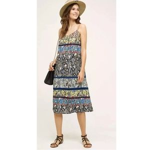One September Cosima Floral Embroidered Midi Dress